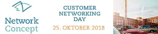 Banner für die Einladung zum Customer Networking Day