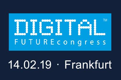 Logo Digital Future Congress 2019 mit Veranstaltungsdatum