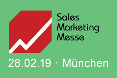 Logo Sales Marketing Messe 2019 mit Veranstaltungsdatum