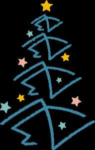 Weihnachtsbaum gezeichnet aus dem Network Concept Logo