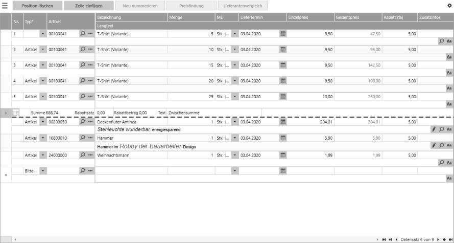 Screenshot der Kennzeichnung des Seitenumbruches