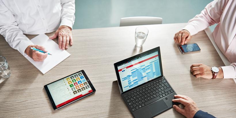 Bild einer Meetingszene