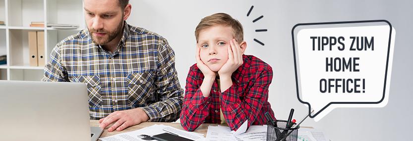 Bild zum Thema Home Office mit Kindern