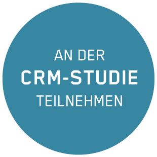 """Button mit dem Text """"An der CRM-Studie teilnehmen"""""""