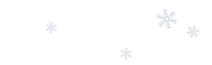 Bild von hellblauen illustrierten Schneeflocken