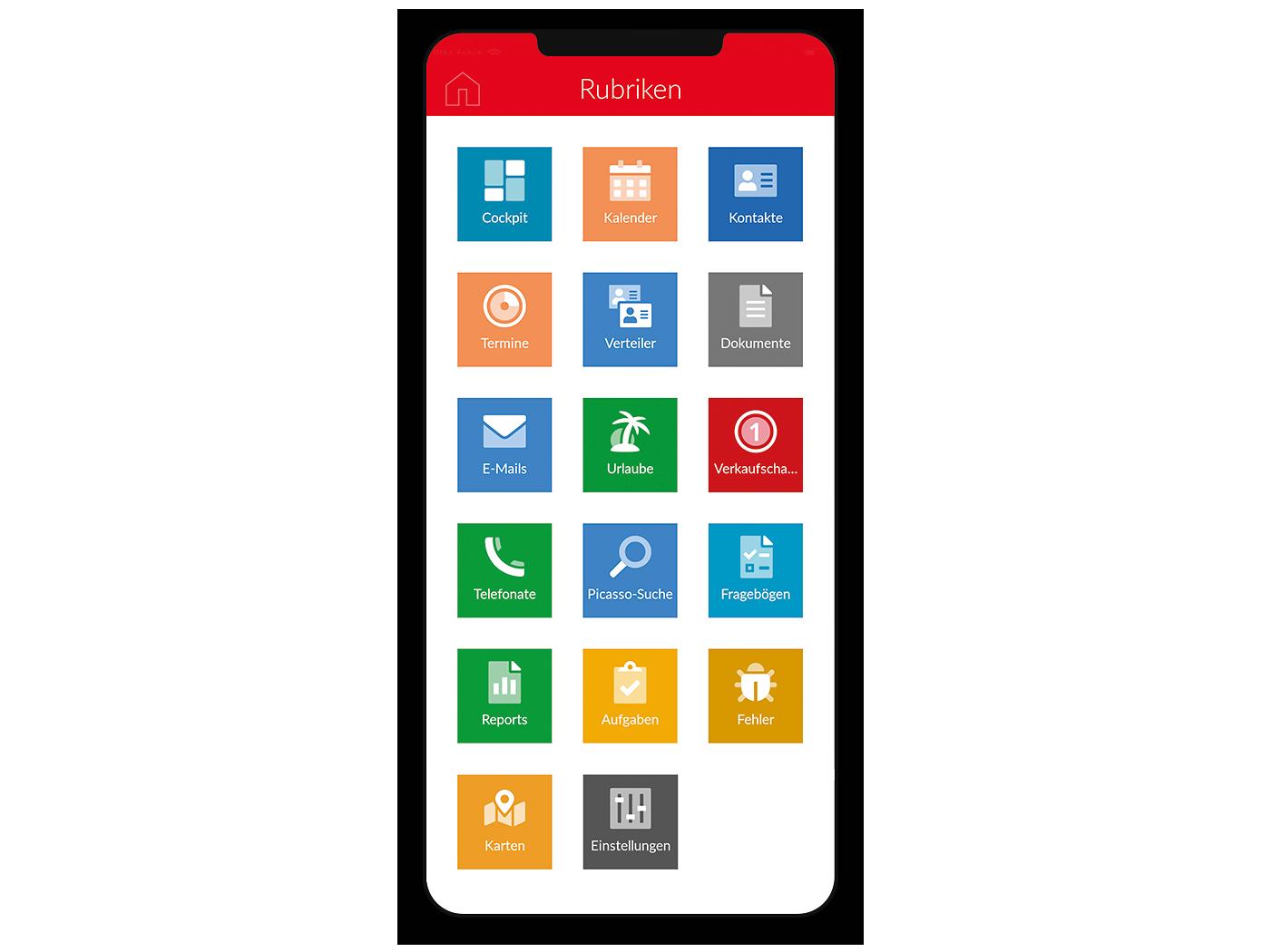 Screenshot Smartphone neue App-Icons in x13