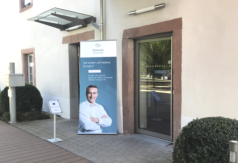 Customer Networking Day 2019 - Bild vom Eingang Buhlsche Mühle Ettlingen