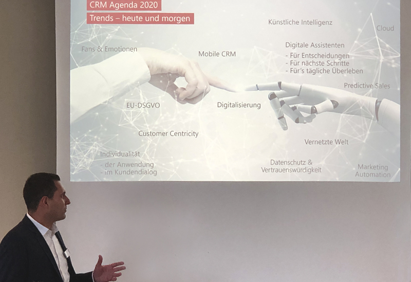 Customer Networking Day 2019 - Bild Vortrag Michael Reck von der CAS Software AG