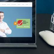 Bild Tablet mit Startseite der Network Concept Website und dem Logo der Sales Marketing Messe 2019