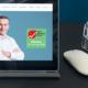 Bild Tablet mit Startseite der Network Concept Website und dem Logo der Sales Marketing Messe 2020