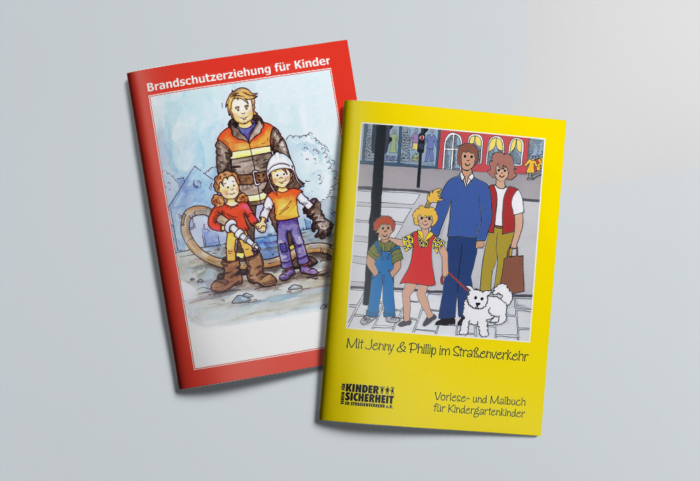 Broschüren zur Brand- und Verkehrserziehung von Kindern